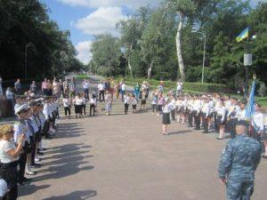 Учні шкіл міста Одеси несуть Почесну Вахту Пам'яті на Посту №1