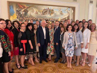 Ганні Рубанській– вчителю обслуговуючої праці Одеської ЗОШ № 25 – вручено премію Верховної Ради України
