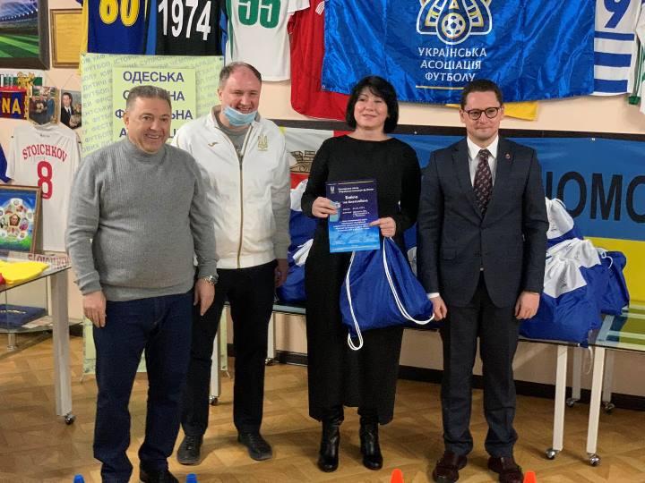 Учителі фізичного виховання м. Одеси отримали дипломи Української асоціації футболу